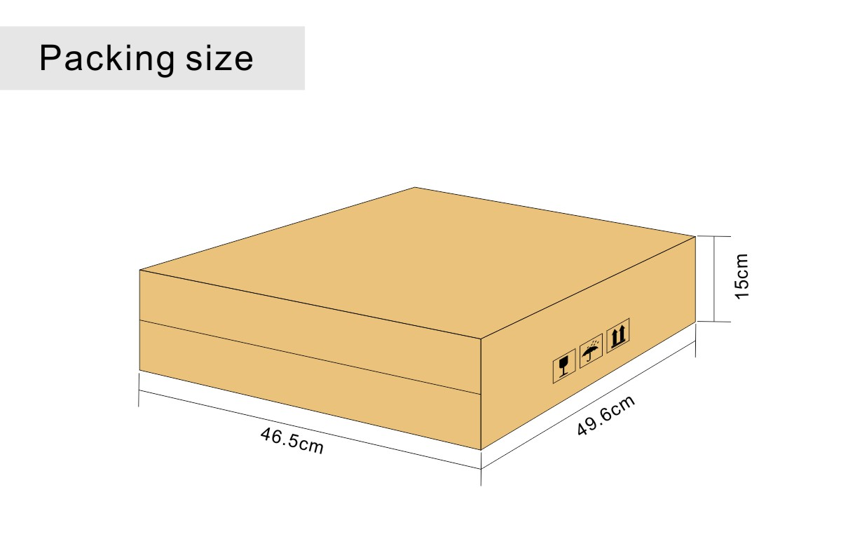 Packing Dimensions of Cash Drawers with Removable Coin Pallets