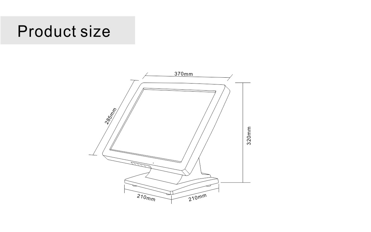 touch LCD for POS