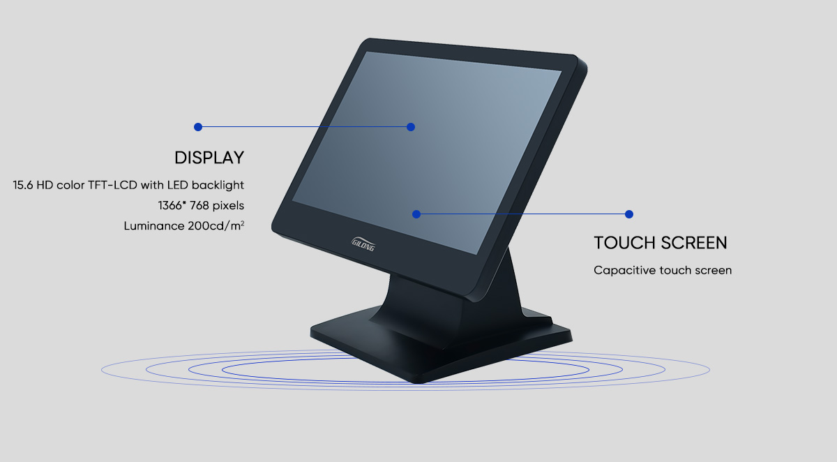 touch screen monitor for retail
